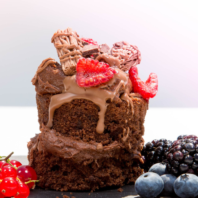 """Chocolate cake"" stock image"