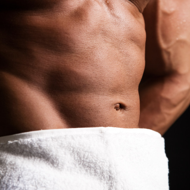 """Bodybuilder abs"" stock image"