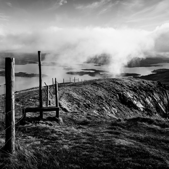 """Old Stile on Ben Dubh"" stock image"