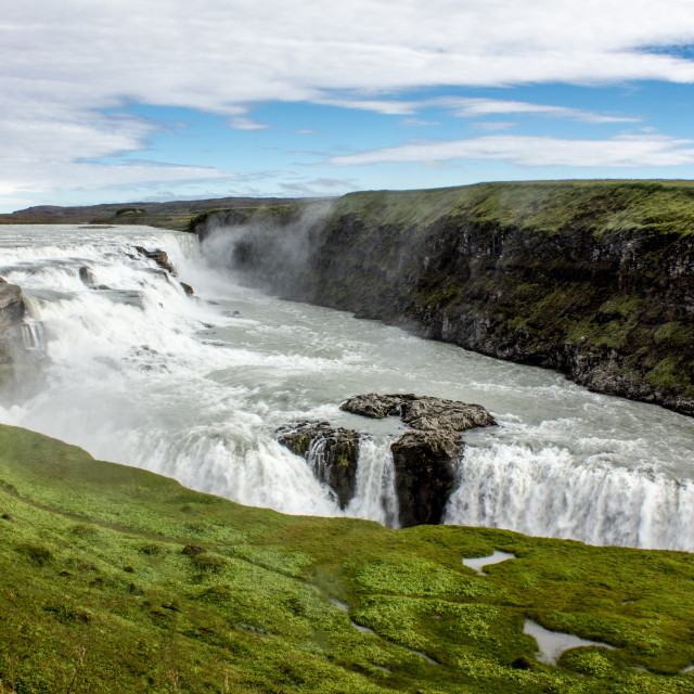 """Gullfloss waterfall Iceland"" stock image"