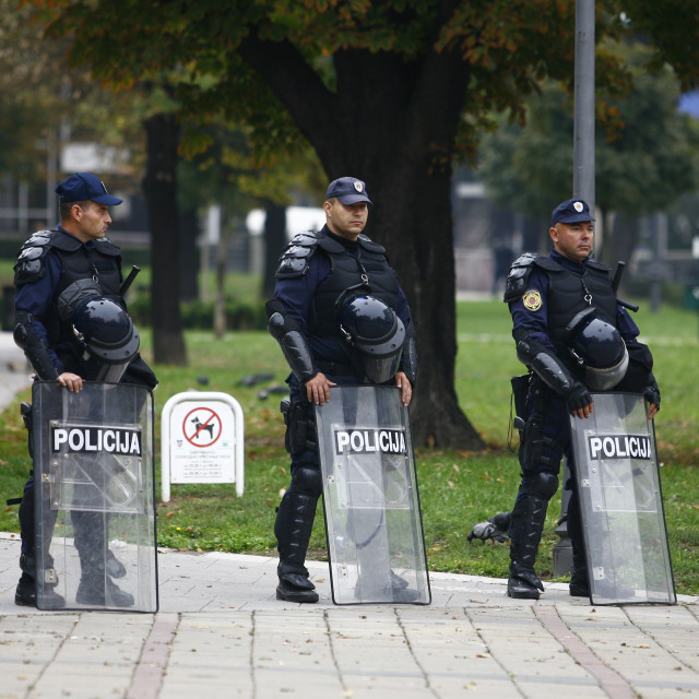 """""""Police and Pride in Belgade"""" stock image"""
