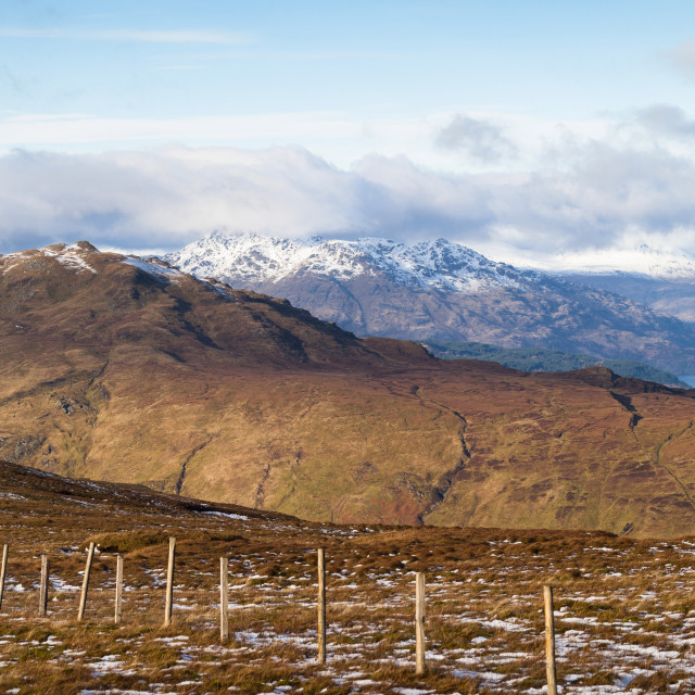 """Arrochar Alps Pano From Ben Dubh"" stock image"