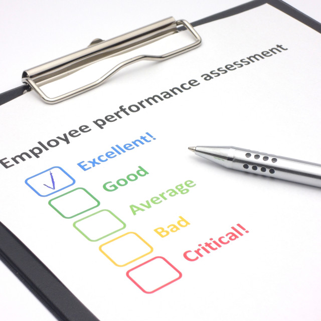 """Employee performance assessment - excellent"" stock image"