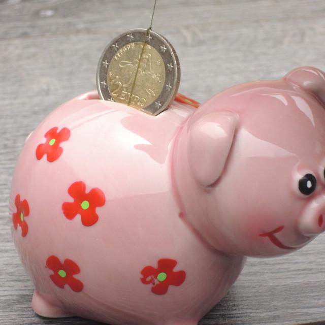 """Euro crisis - Greeks spending their money twice"" stock image"