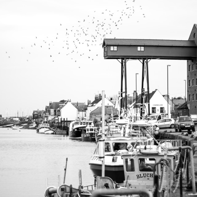 """Wells next the Sea harbour"" stock image"