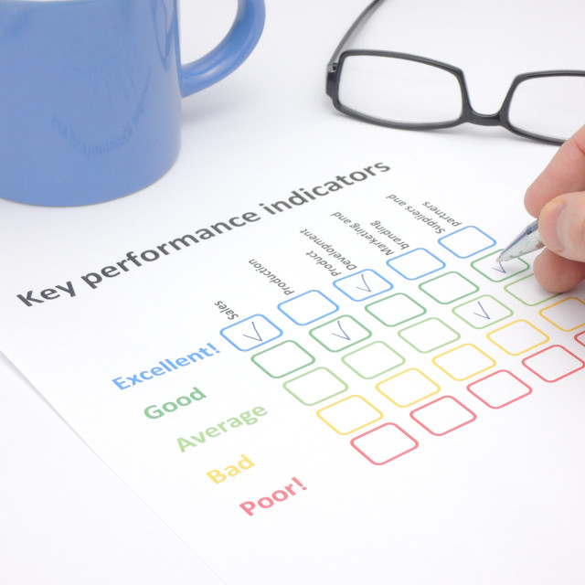 """Assessment of key performance indicators"" stock image"