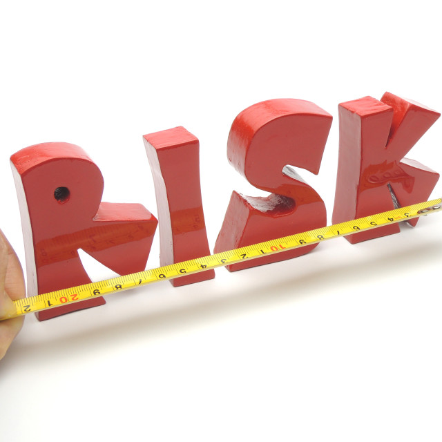 """Risk measurement and assessment"" stock image"