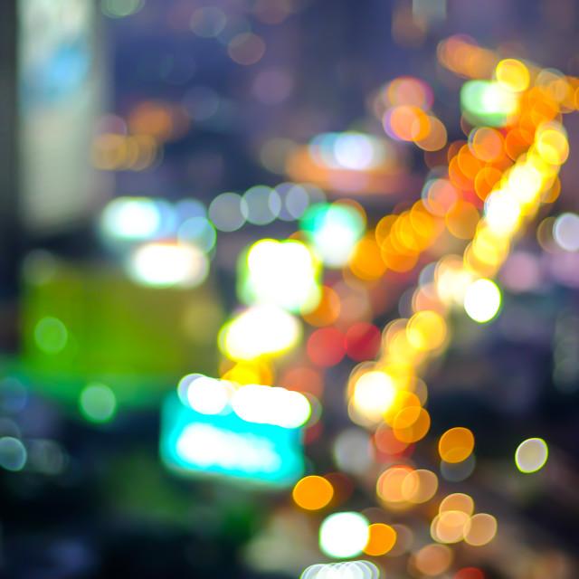 """""""Defocused backdrop background of Bangkok cityscape, Thailand"""" stock image"""
