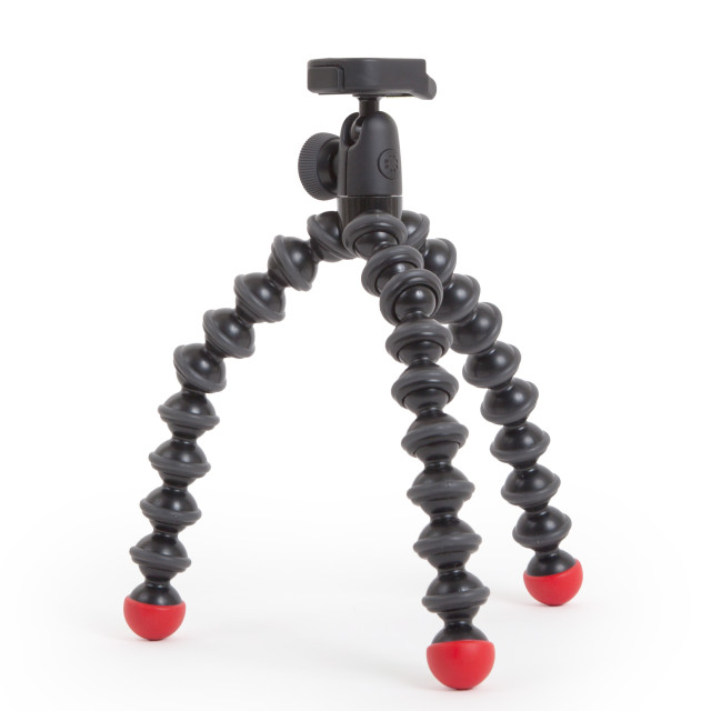 """Flexible tripod isolated"" stock image"