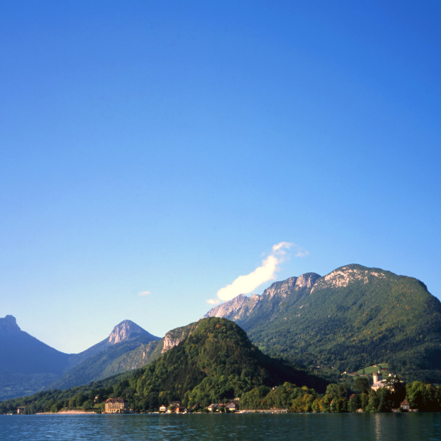 """""""Duingt on Lake Annecy"""" stock image"""