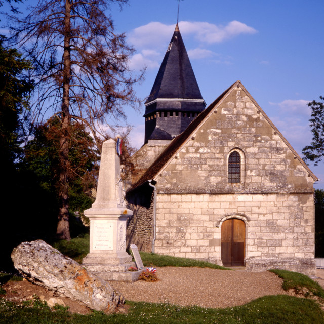 """""""Giverny - Village Church"""" stock image"""