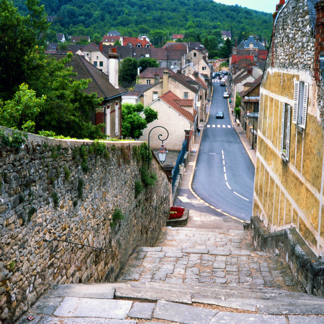 """""""The Village of Vetheuil"""" stock image"""