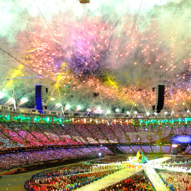"""Fireworks during London 2012 closing ceremony"" stock image"