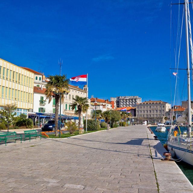"""City of Sibenik waterfront view"" stock image"