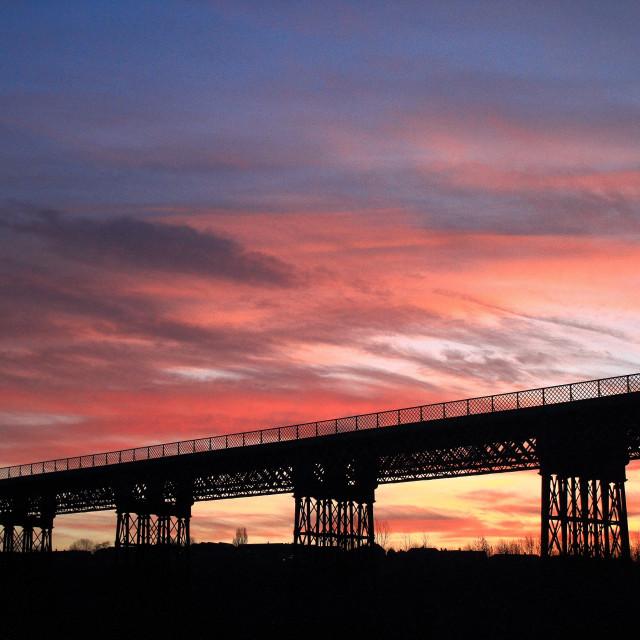 """Bennerley at sunrise"" stock image"