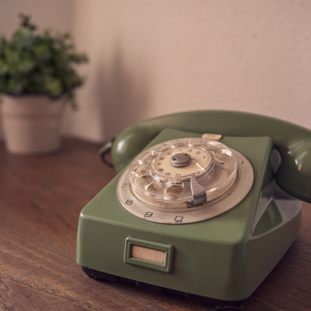 """Retro phone"" stock image"