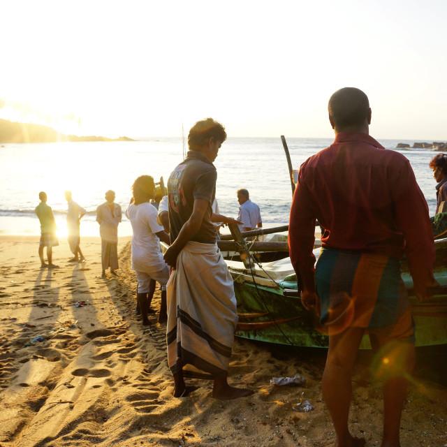 """Sri Lankan Fishermen"" stock image"