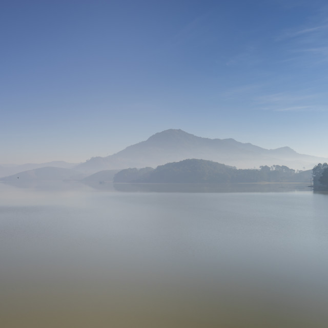 """Morning by Dankia lake, like painting"" stock image"