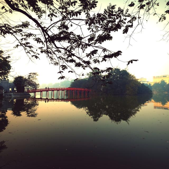 """Hoan Kiem Lake"" stock image"