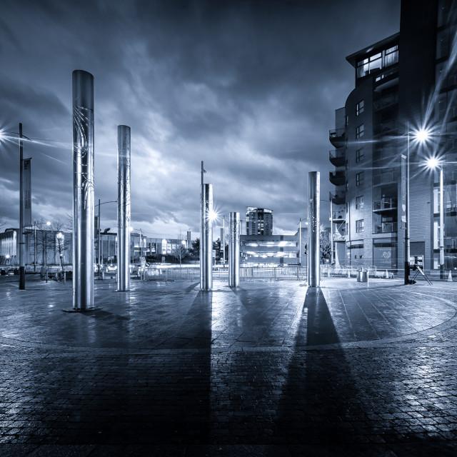 """Swansea City Blue Mood"" stock image"