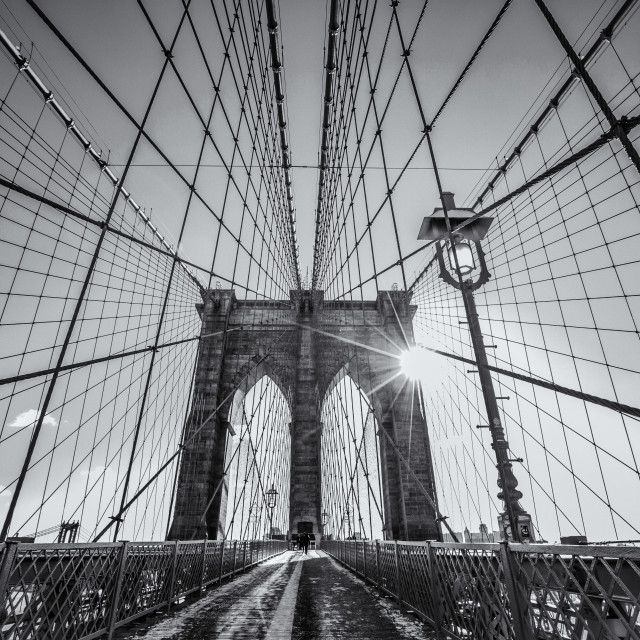 """Brooklyn Bridge detail"" stock image"