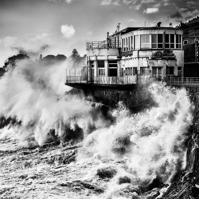 """In the seastorm"" stock image"