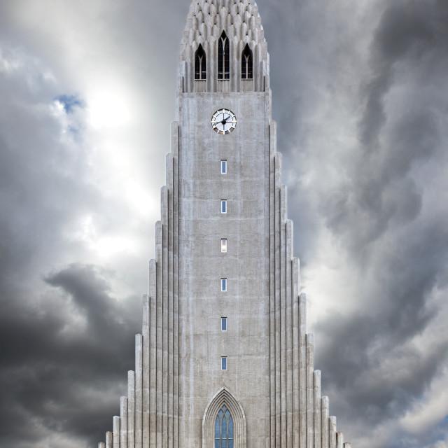 """Halgrimskirkja-2, Reykjavik"" stock image"
