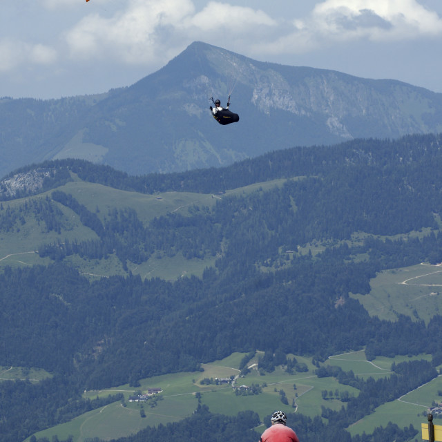 """Biking and flying"" stock image"