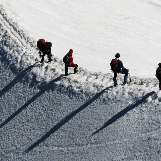 """Off-piste"" stock image"