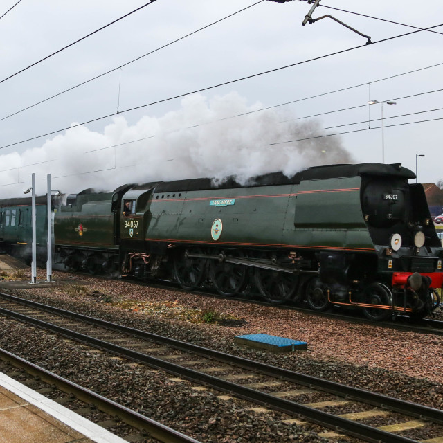 """Tangmere passing through St Neots"" stock image"