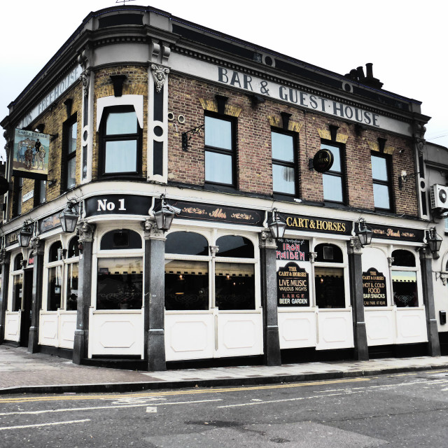 """""""The Cart and Horses Public House"""" stock image"""