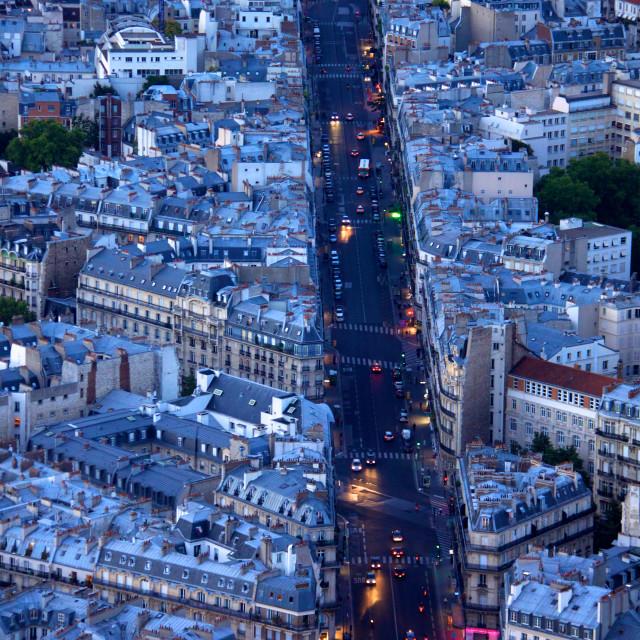 """Lights of boulevard Saint Michel"" stock image"