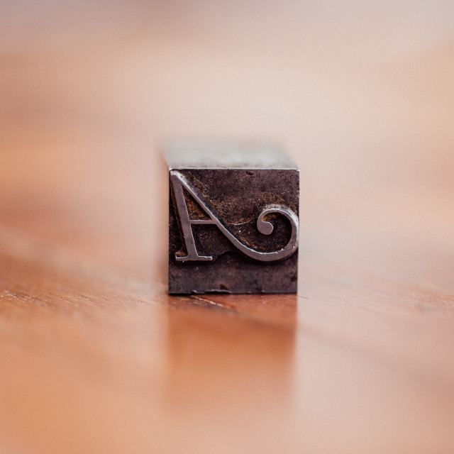 """A"" stock image"