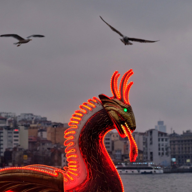"""The Red Dragon"" stock image"