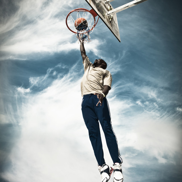 """Basketball Player"" stock image"