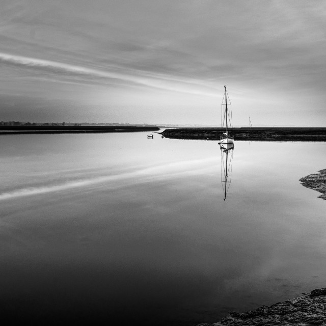 """Moored Monotone"" stock image"