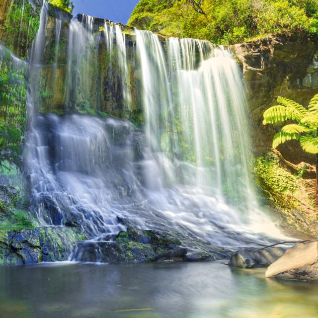 """""""Mokoroa falls ...."""" stock image"""