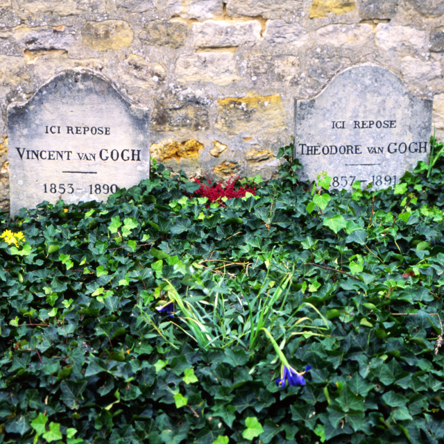 """Grave of Vincent Van Gogh"" stock image"