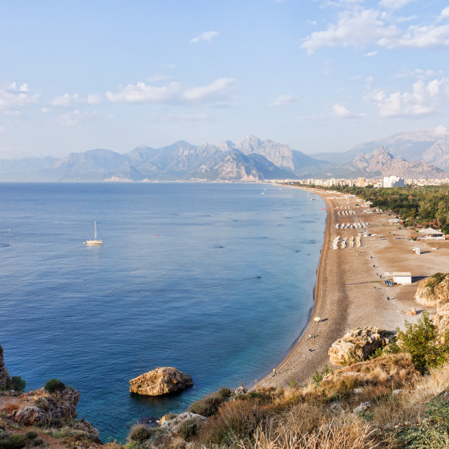 """Konyaalti Beach in Antalya in Turkey"" stock image"