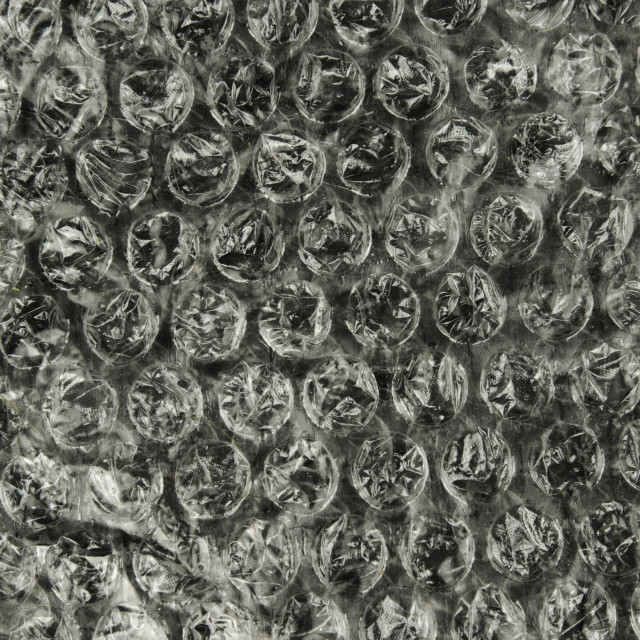 """""""Closeup photo of structure and texture bubble foil"""" stock image"""
