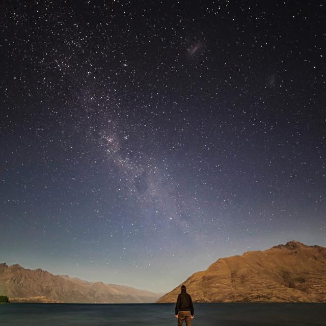 """Lake Wakatipu, New Zealand"" stock image"