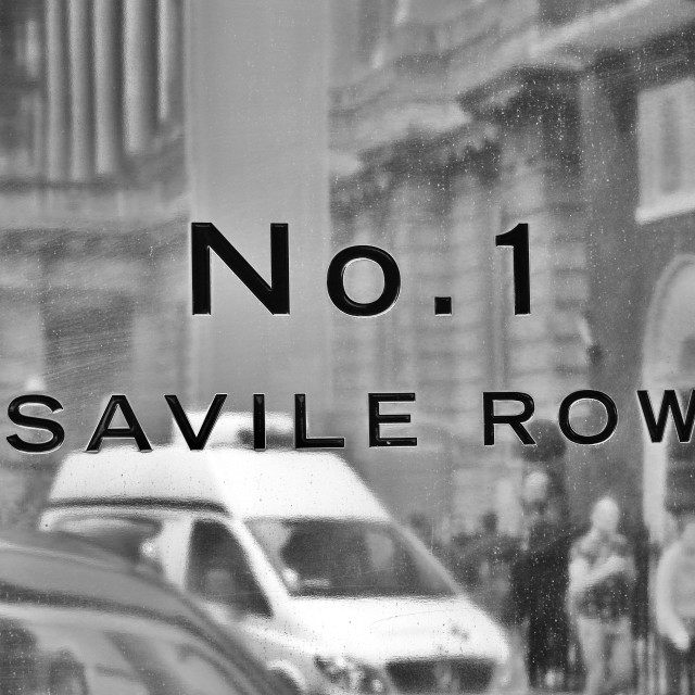 """No. 1 Savile Row"" stock image"