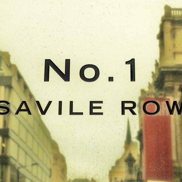 """""""No. 1 Savile Row"""" stock image"""