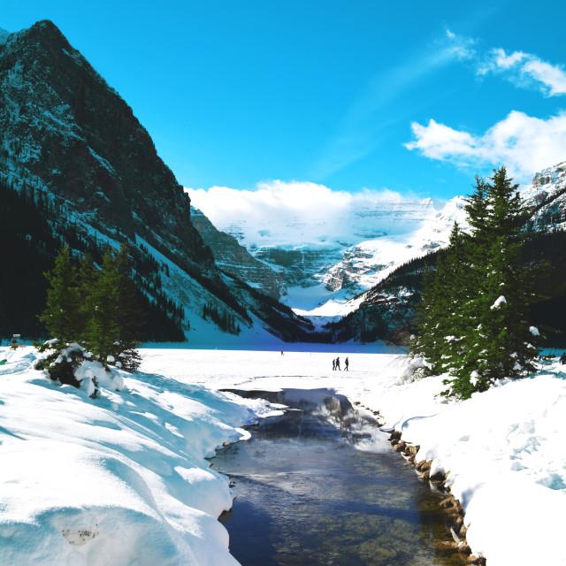 """""""Lake Louise, February,"""" stock image"""