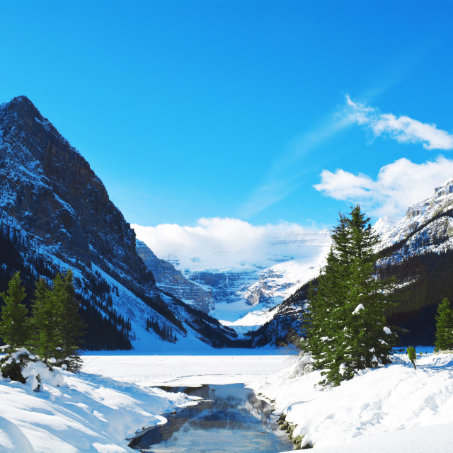 """Lake Louise."" stock image"