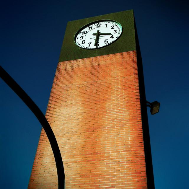 """Clock in Teruel"" stock image"