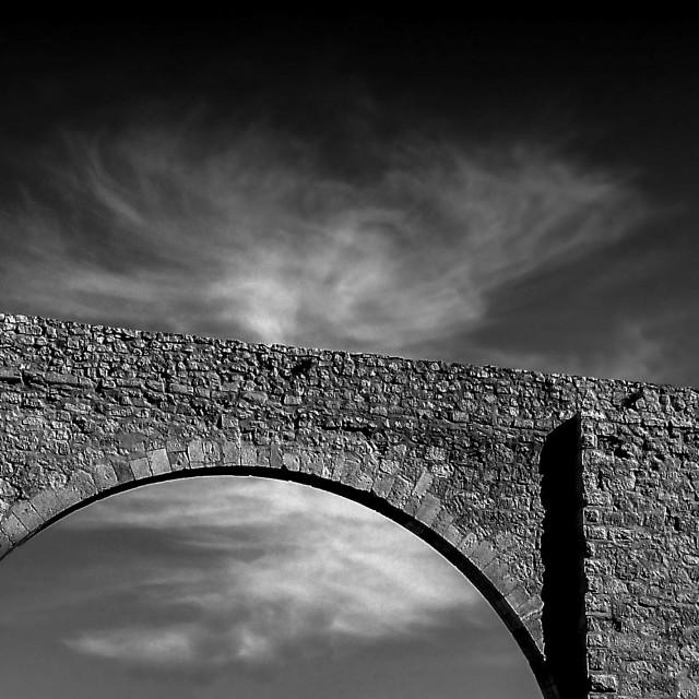 """""""Stone Bridge in Teruel Spain"""" stock image"""