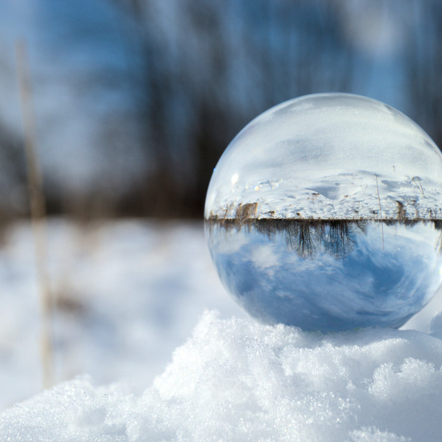 """""""Crystal ball in snow"""" stock image"""