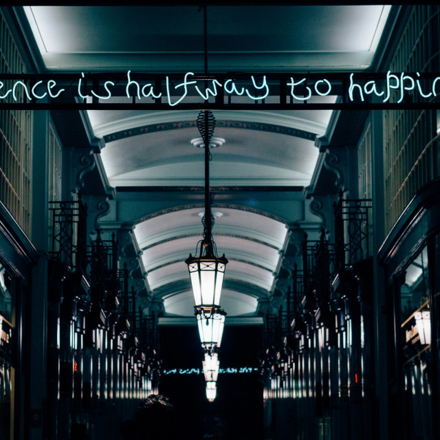 """""""'Patience is halfway to happiness.'"""" stock image"""