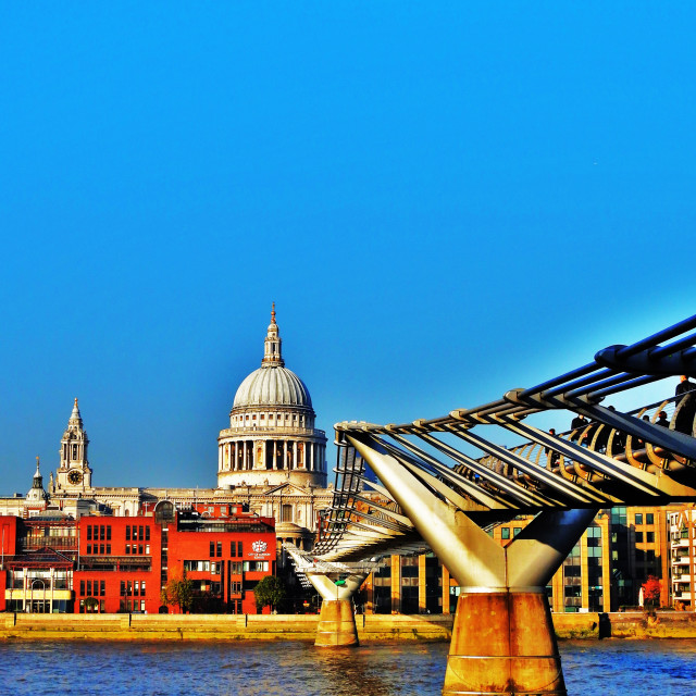 """Millenium and St Paul's"" stock image"